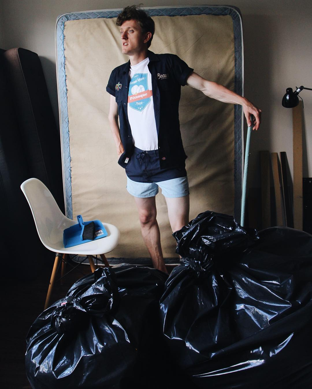 Cleaning up apartment