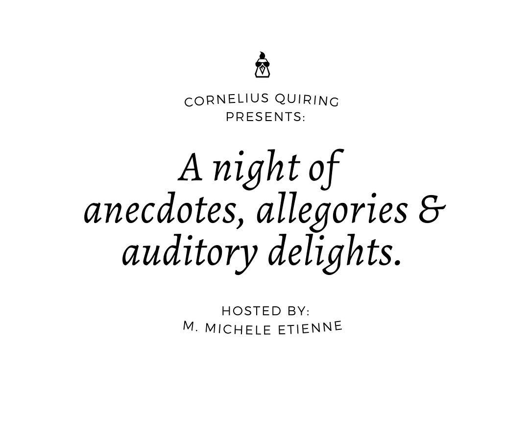 A night of anecdotes, allegories & auditory delights