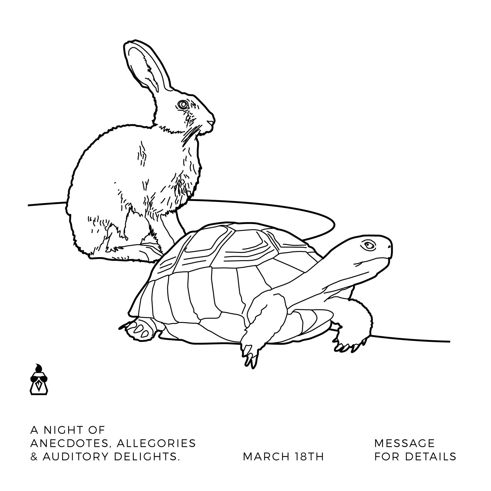 Tortoise and Hare Illustration