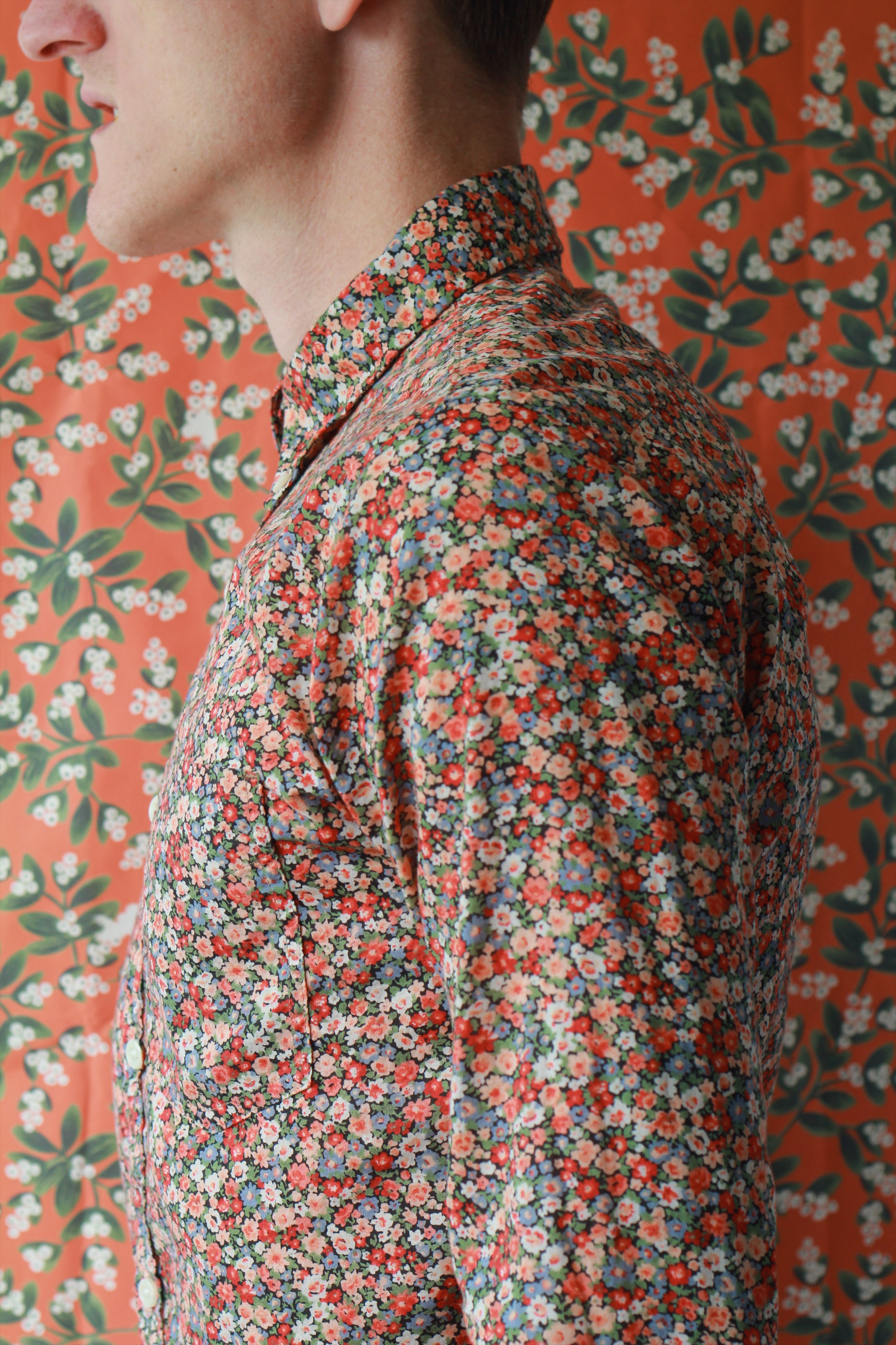 Final Floral Print Button-up Shirt