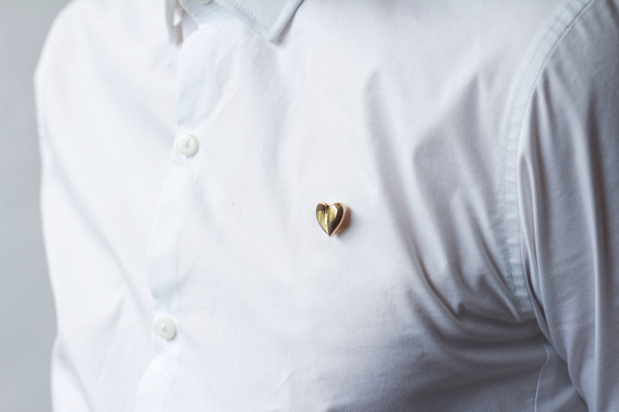 Heart of Gold Vintage Pin