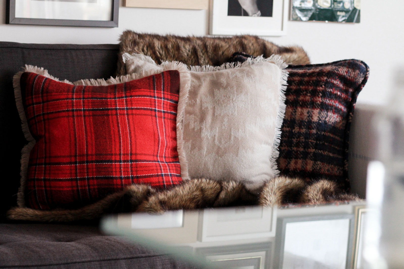 Pillow Covers Made From Blanket Scarves