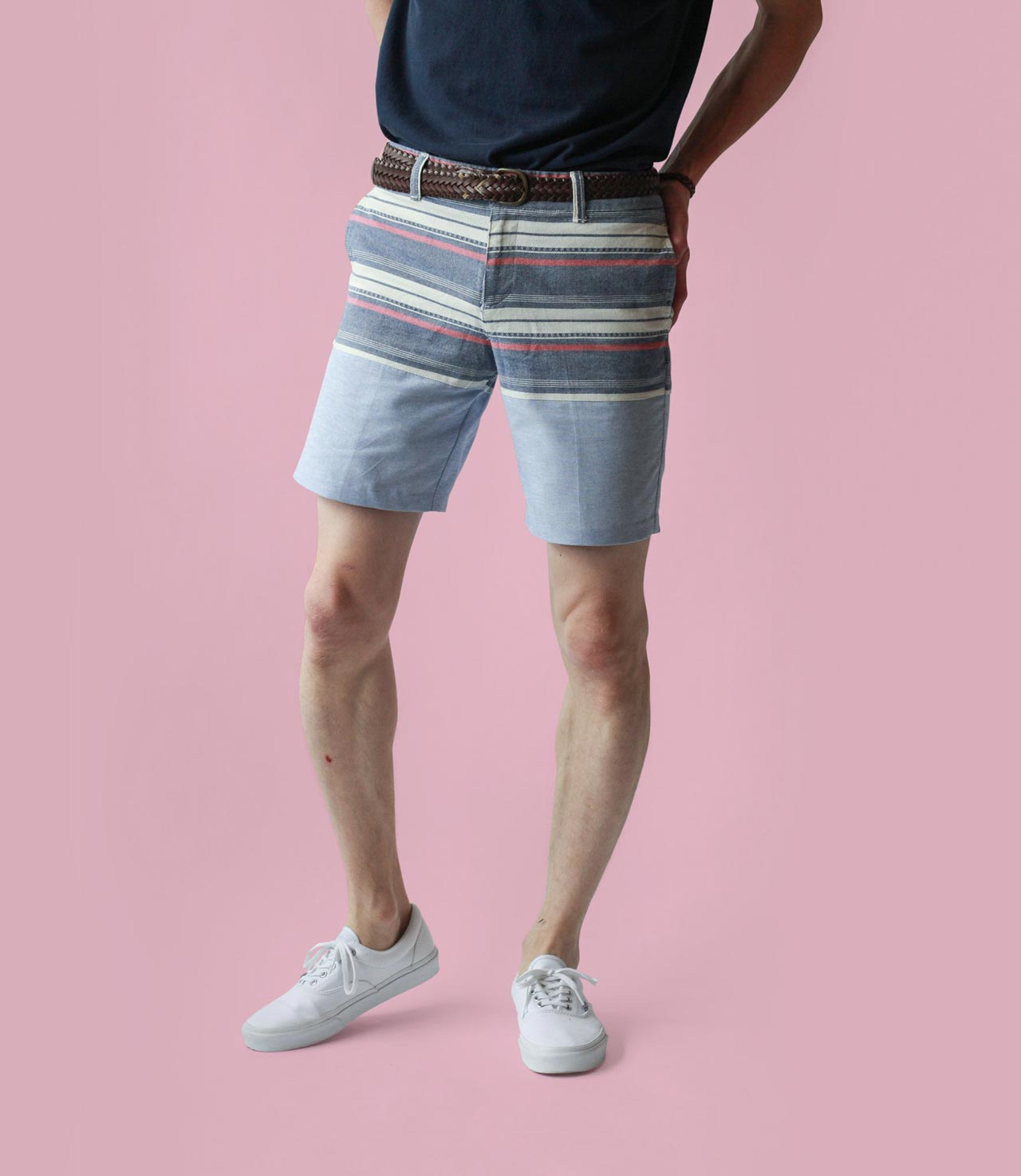 Turning women's shorts into mens pants