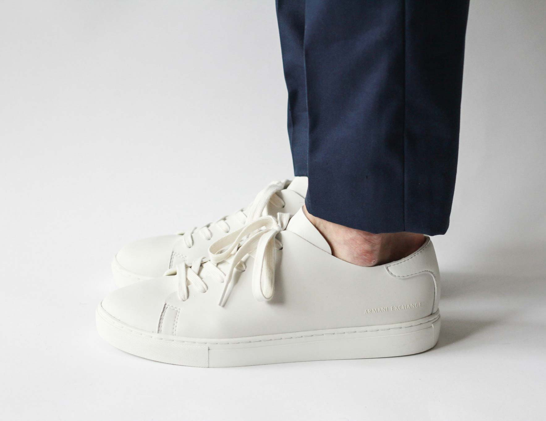 White Armani Exchange Sneakers