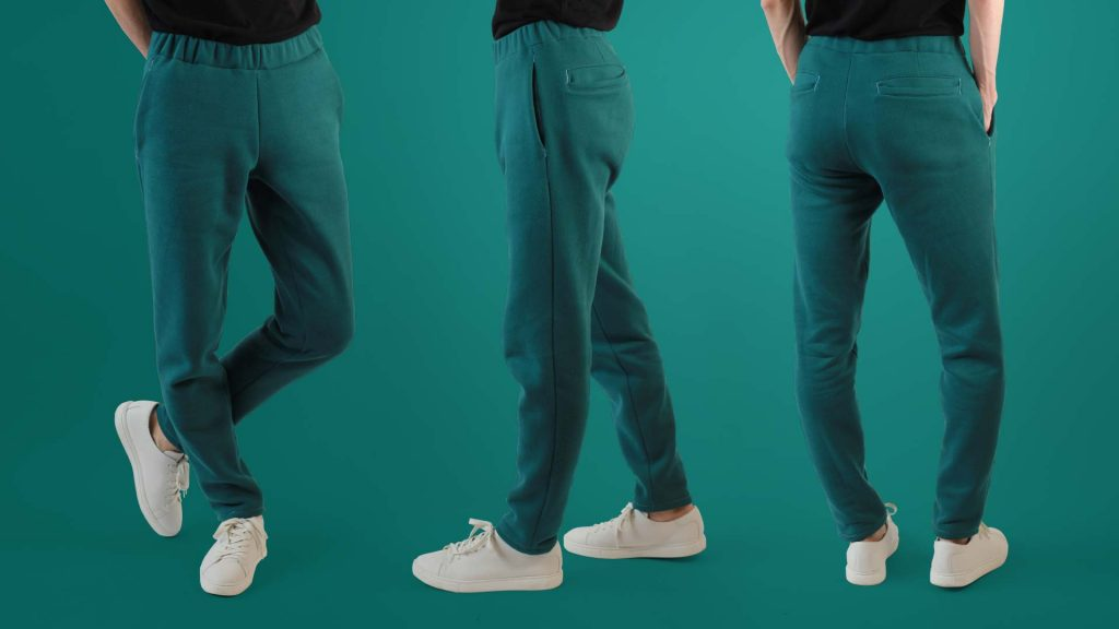Turquoise Modern Men's Joggers