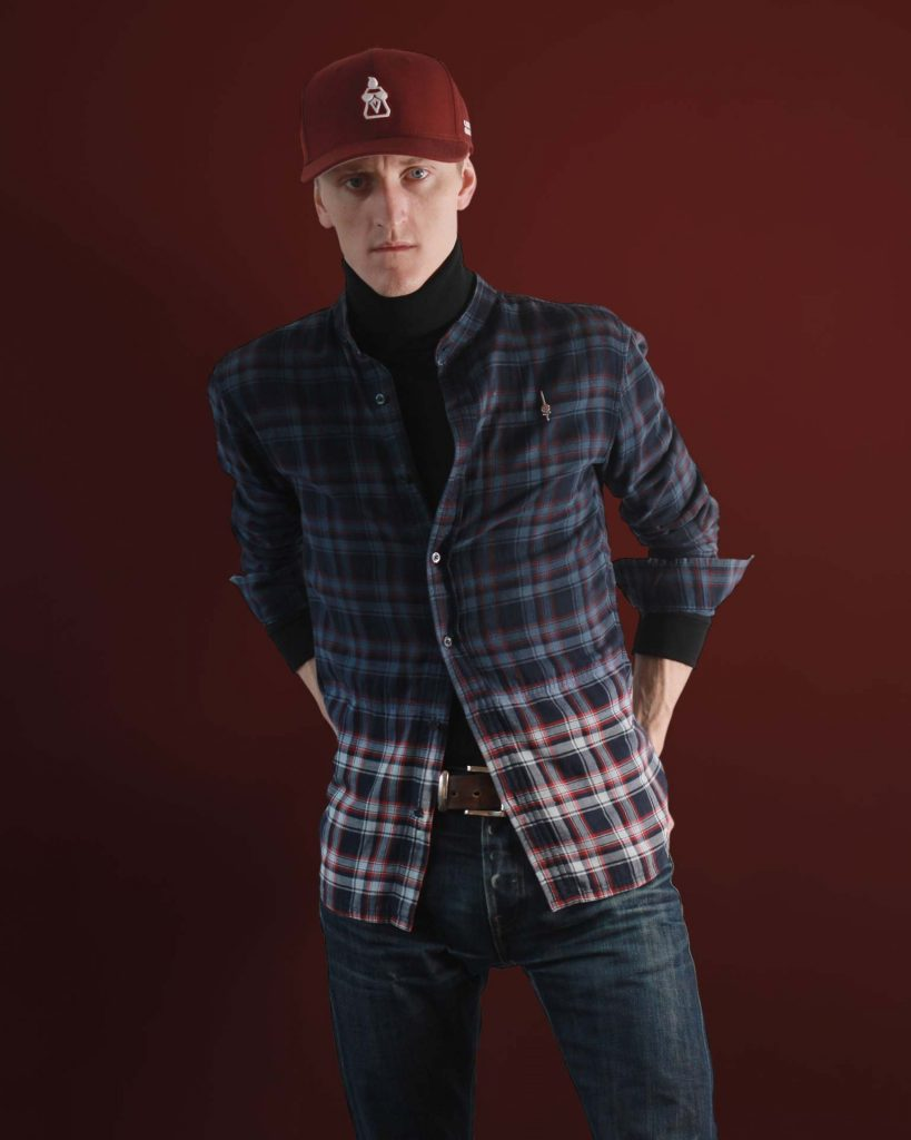 Mens Turtleneck and button-up