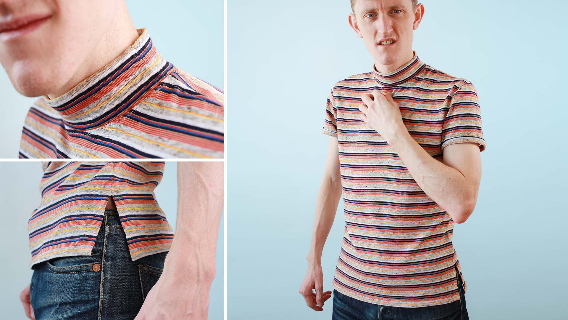 1970's mock neck t-shirt