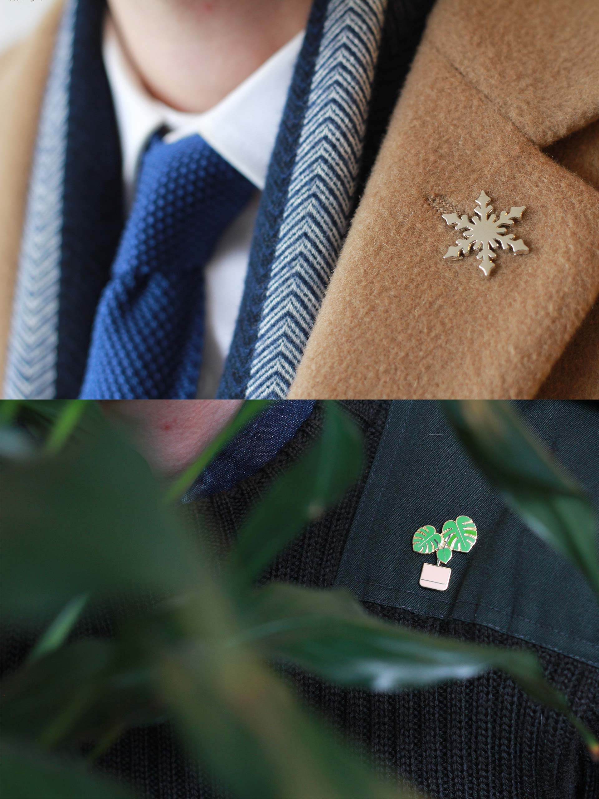 Snowflake Pin / Monstera Pin Photo