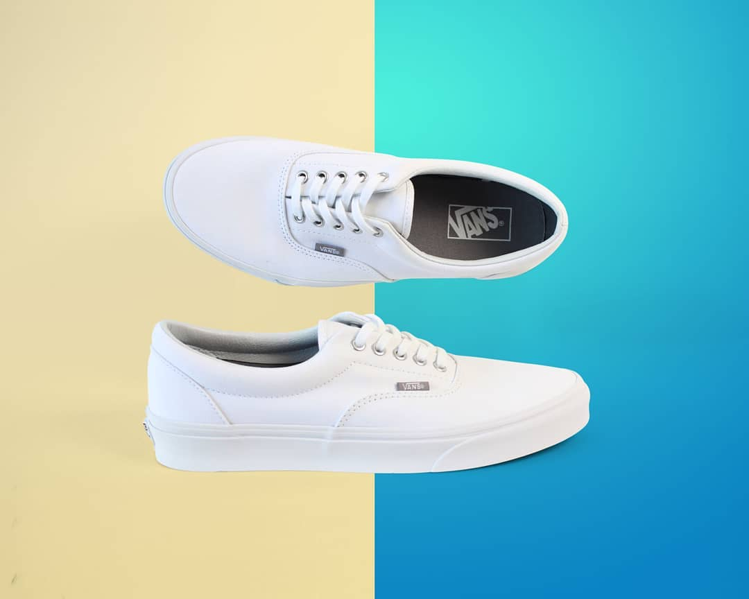 White Vans New Era Shoes
