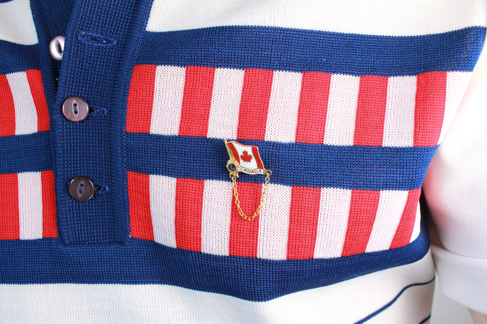 Canadian Flag Lions Club pin