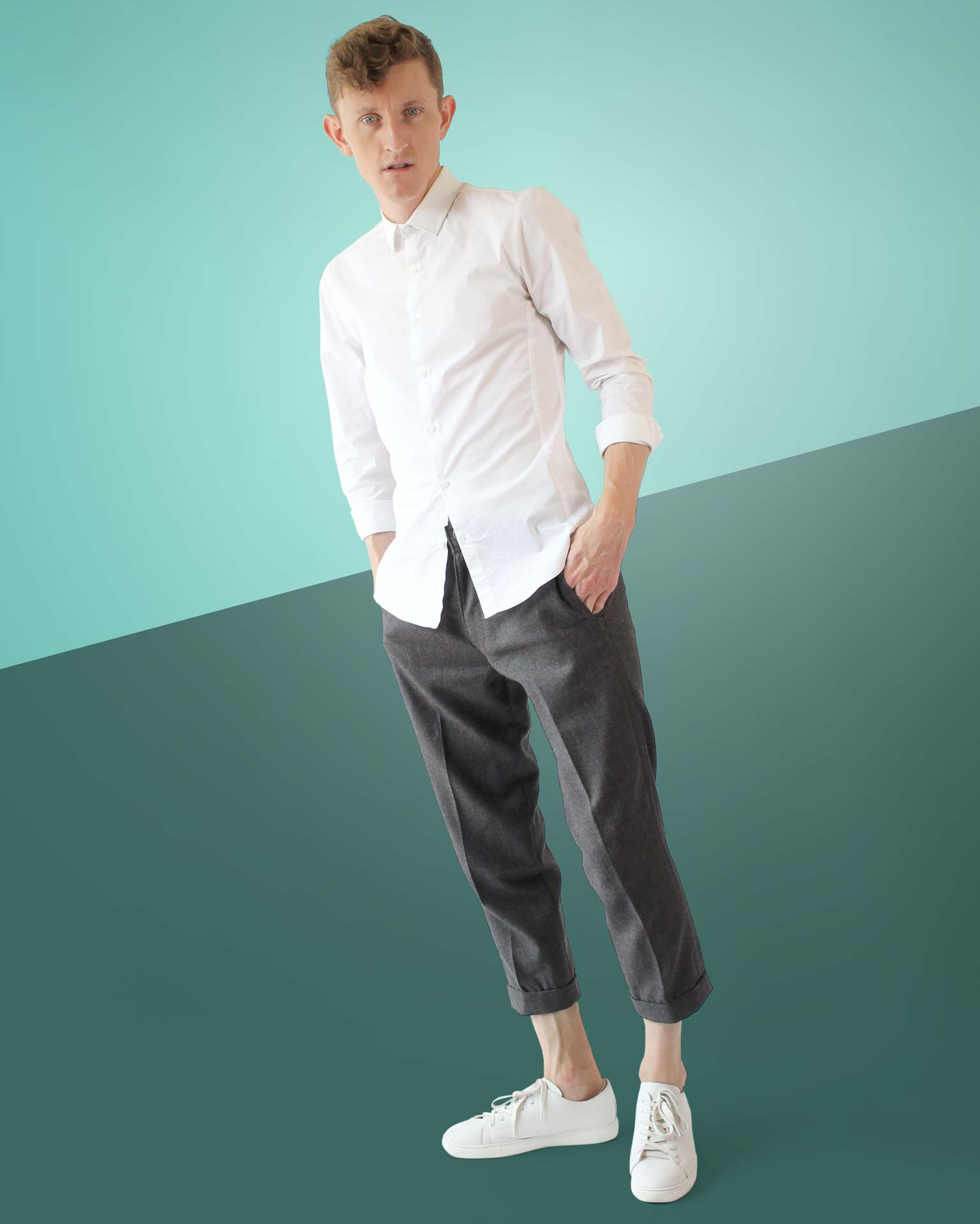 Mens Wool Capri Pants