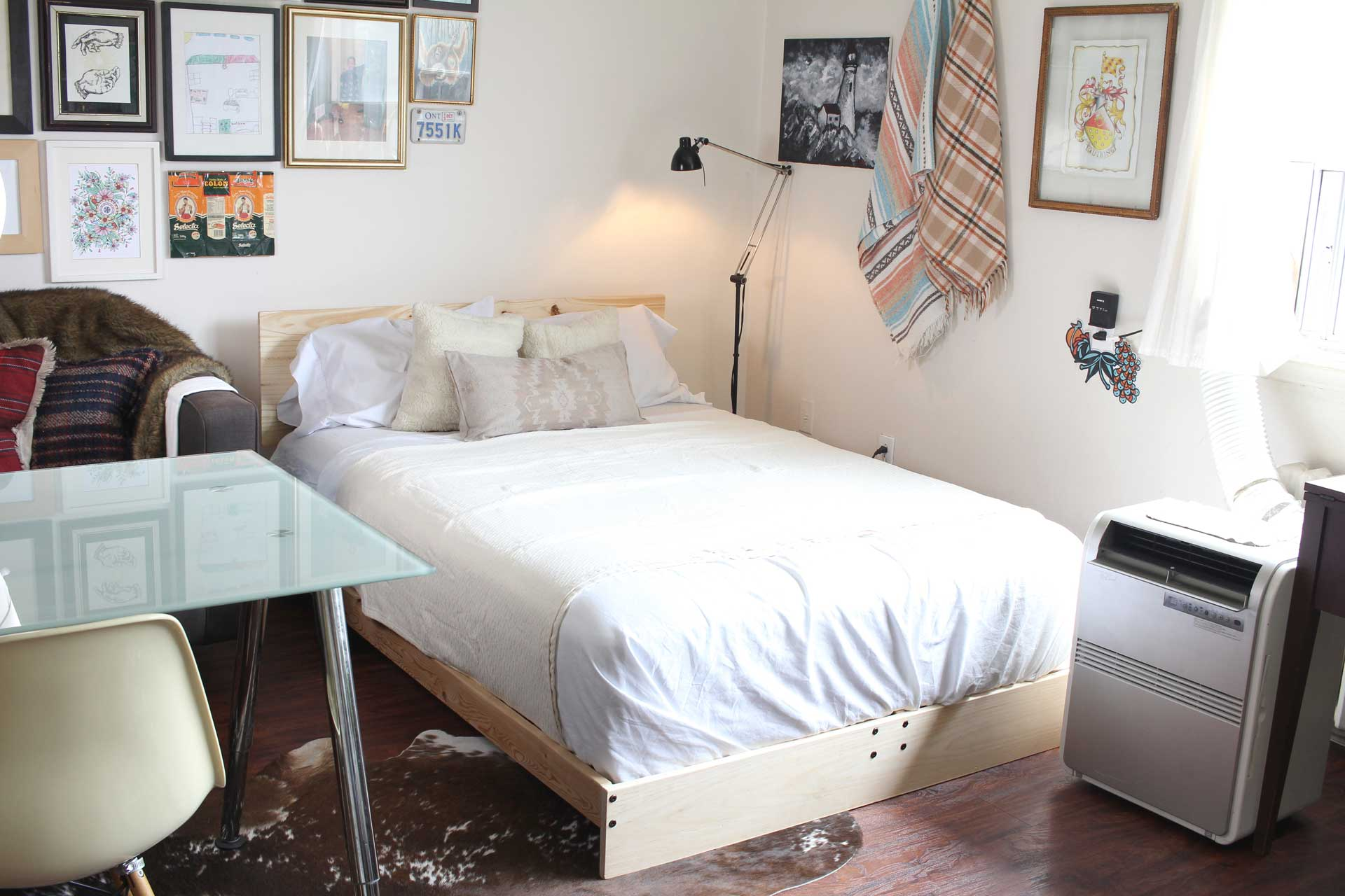 Upcycled Ikea futon into a bed frame